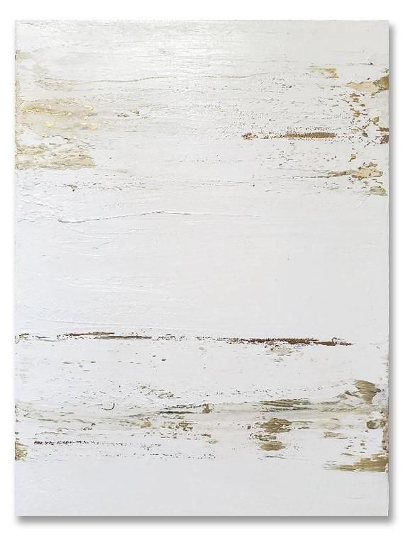 """""""Stria in Gold & White"""" original fine art by Sunny Avocado"""
