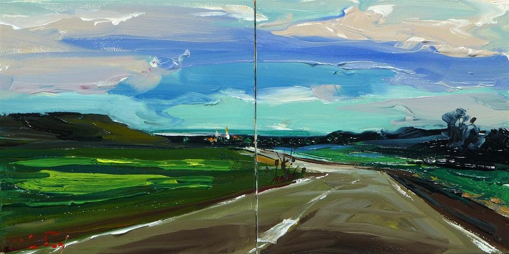 """country road"" original fine art by Jurij Frey"