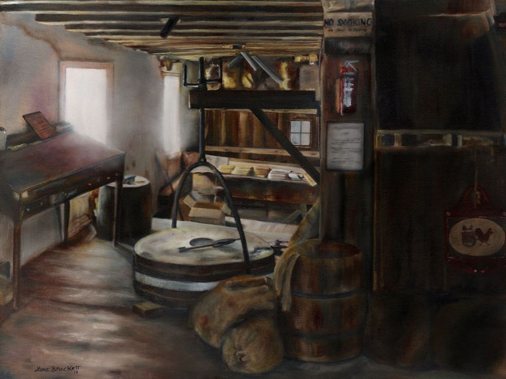 """Inside The Flour Mill"" original fine art by Lori Brackett"