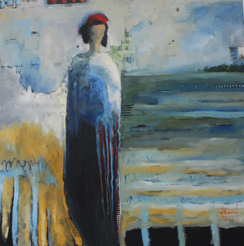 """Eye Cloud"" original fine art by Deborah Harold"