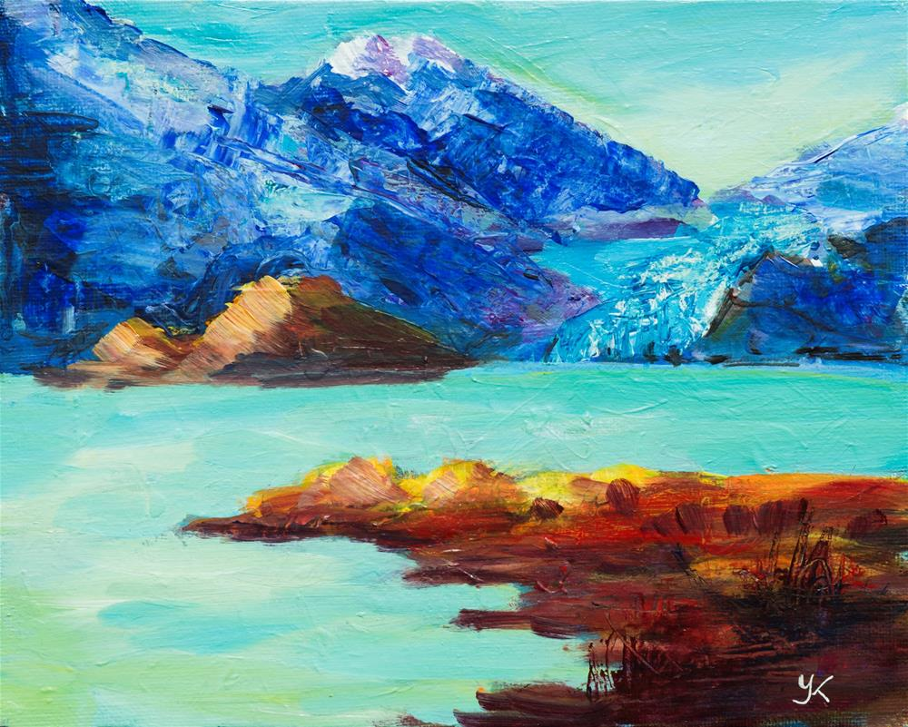 """Mendenhall Lake, Juneau, Alaska"" original fine art by Yulia Kazansky"