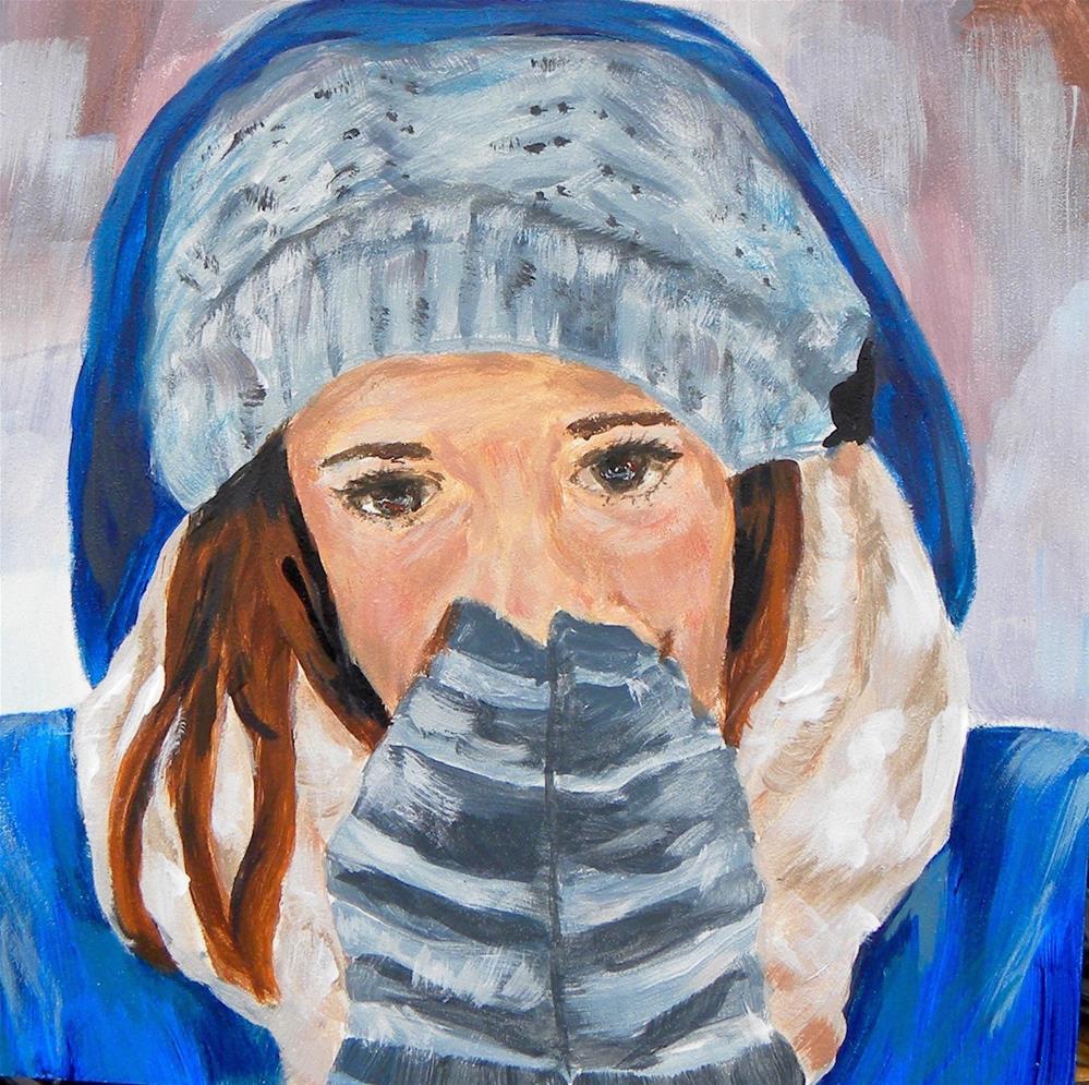 """Brrrrr"" original fine art by cheryl buhrman"