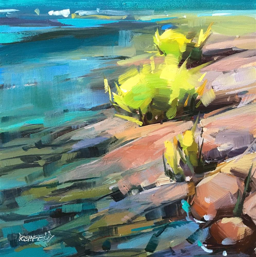 """Waters Edge"" original fine art by Cathleen Rehfeld"