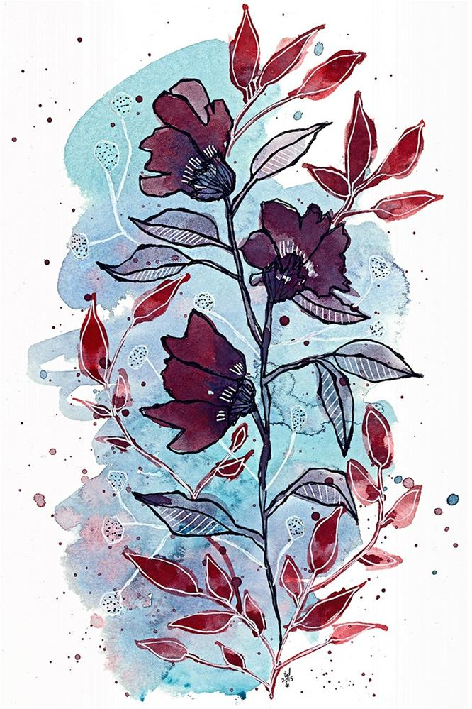 """Not So Moody Blue"" original fine art by Tonya Doughty"