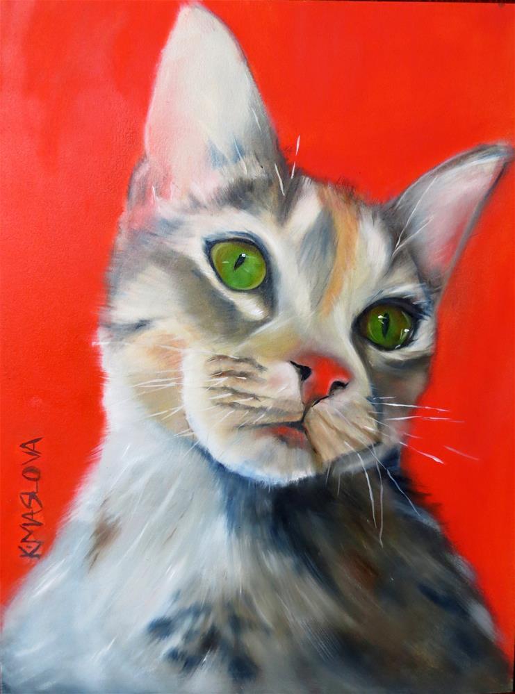 """Liesle"" original fine art by Kulli Maslova"