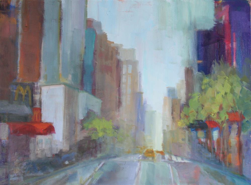 """New York City Street"" original fine art by Carol Josefiak"