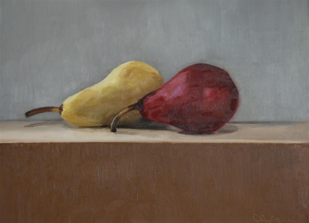 """Pair of Pears"" original fine art by Cheryl Meehan"
