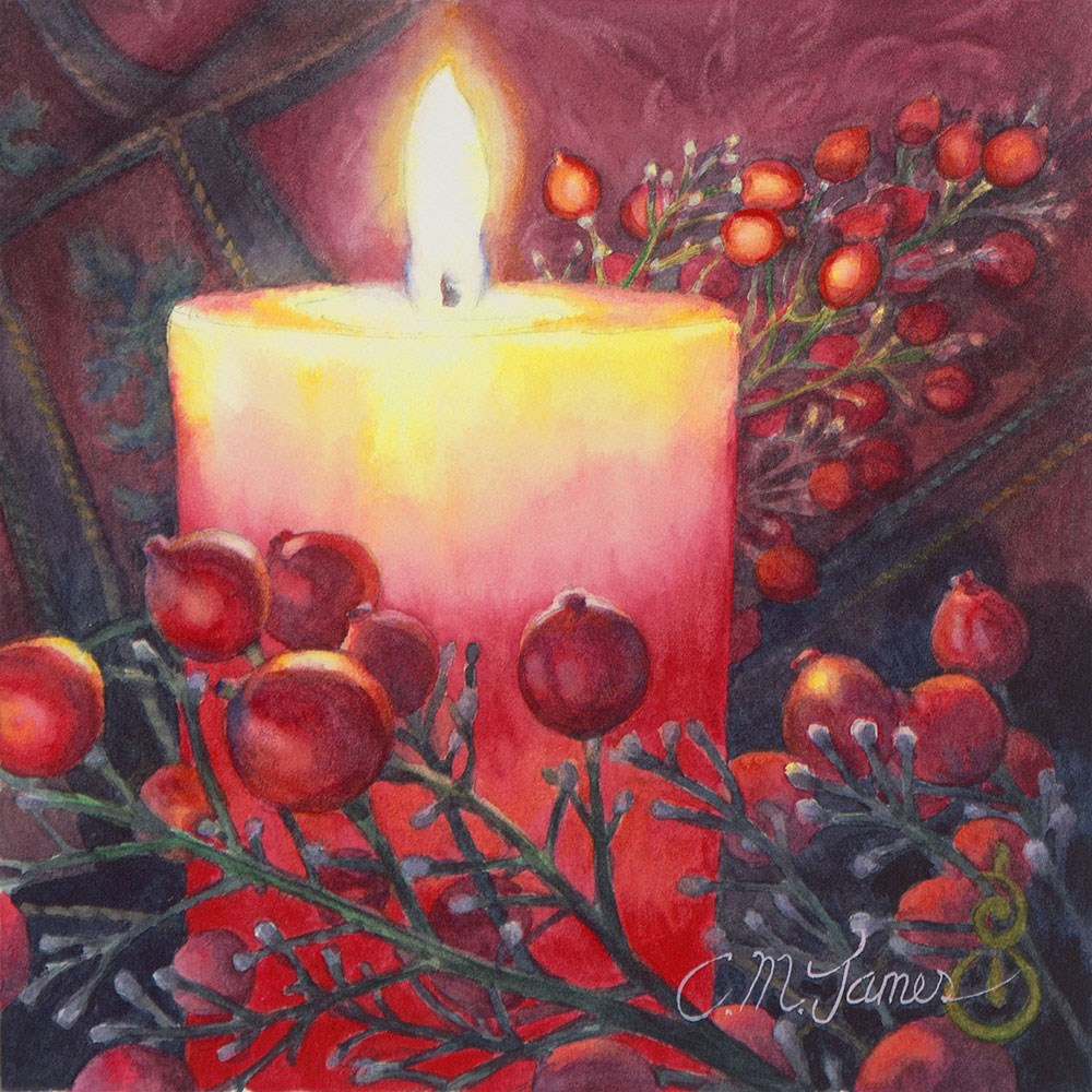 """""""So Shines a Good Deed"""" original fine art by Catherine M. James"""