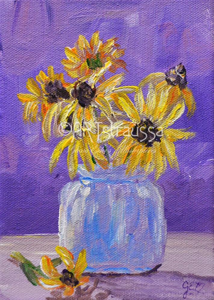 """Bella's Daises"" original fine art by Gloria Ester"