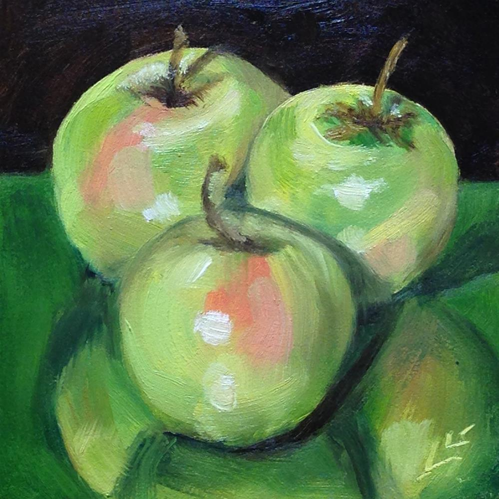 """Yellow Delicious"" original fine art by Linda Lowery"