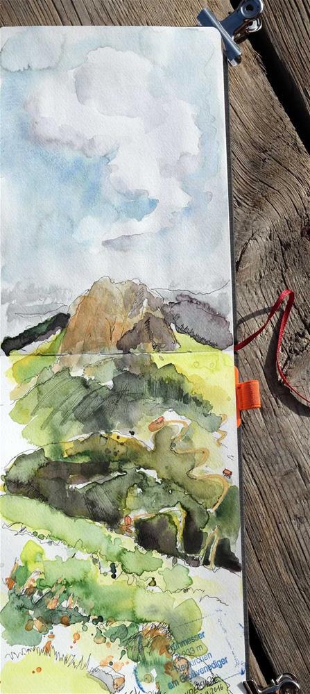 """""""1853 Mountain Summit"""" original fine art by Dietmar Stiller"""