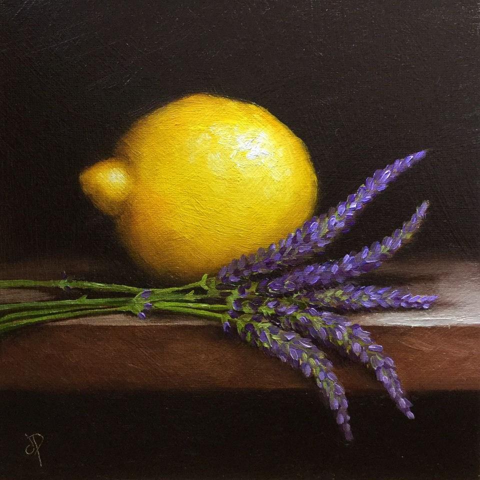 """Lemon and Lavender"" original fine art by Jane Palmer"
