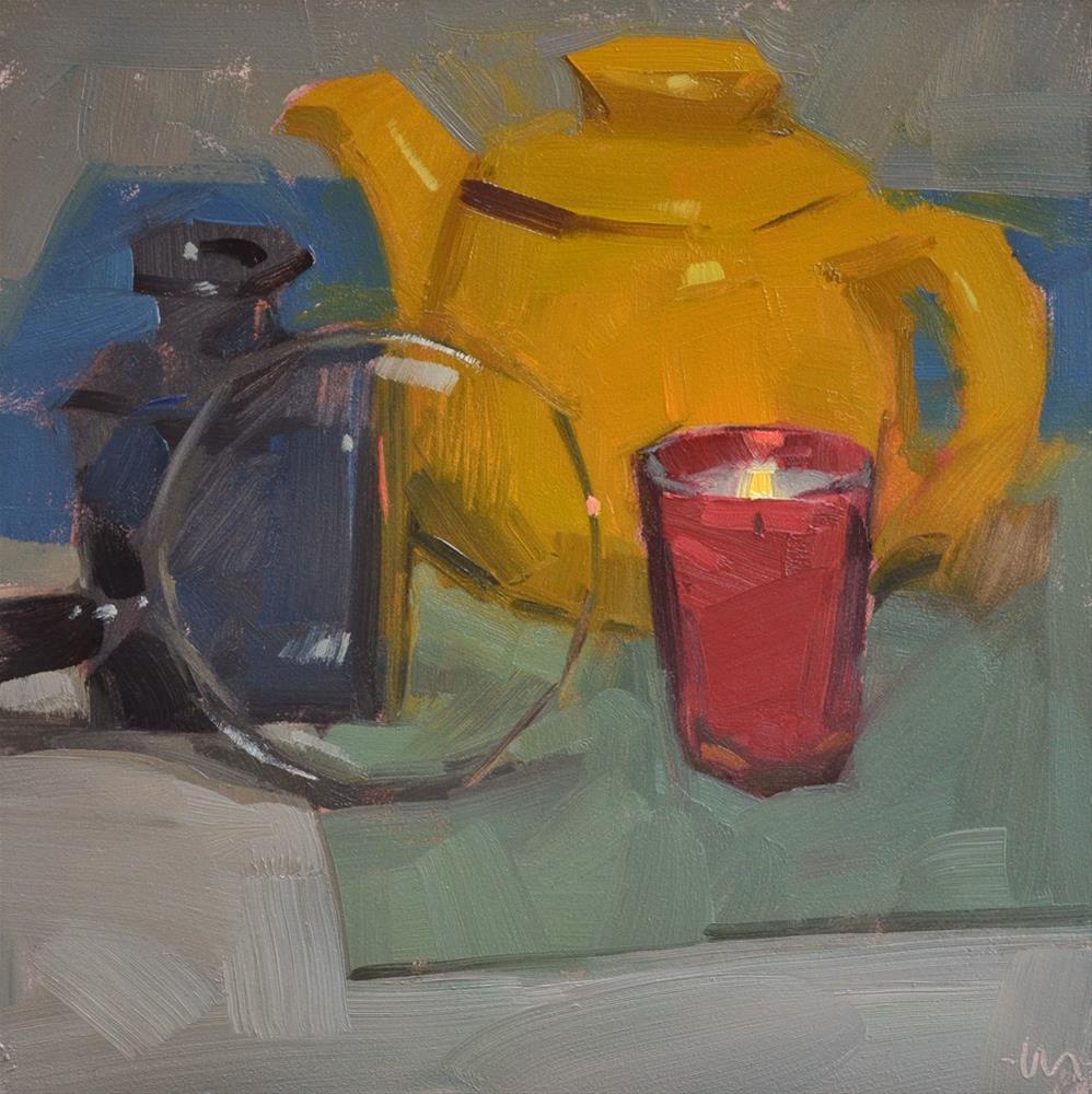 """Candlelight, See Right"" original fine art by Carol Marine"