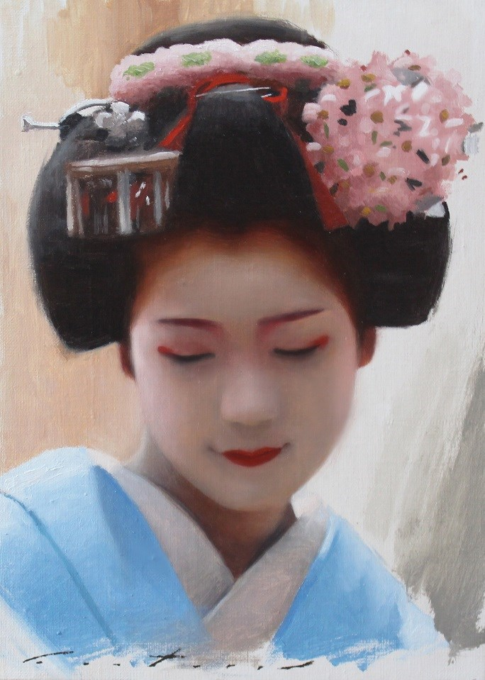 """Portrait of Toshisumi"" original fine art by Phil Couture"