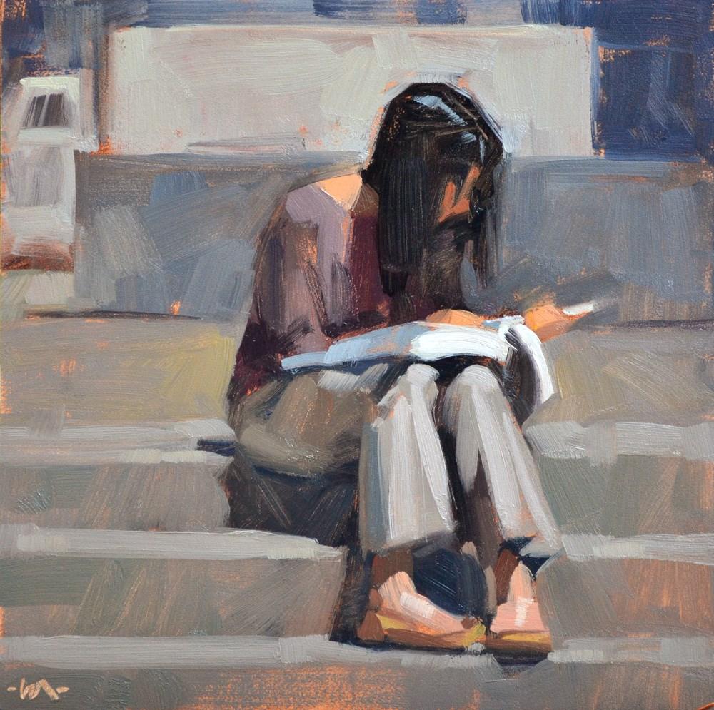 """Last Minute Cramming"" original fine art by Carol Marine"