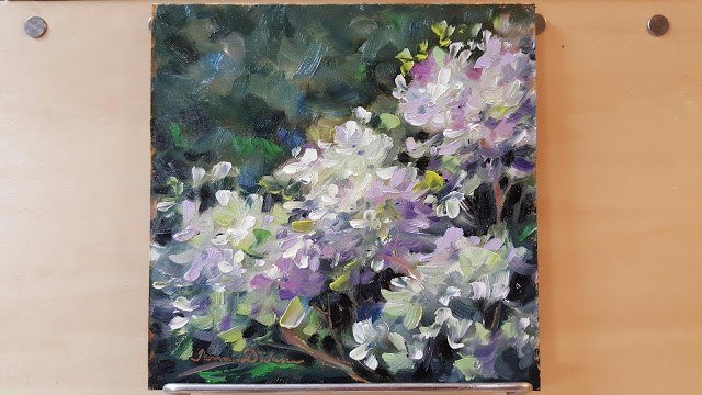 """Bloomstruck Hydrangea"" original fine art by Tammie Dickerson"