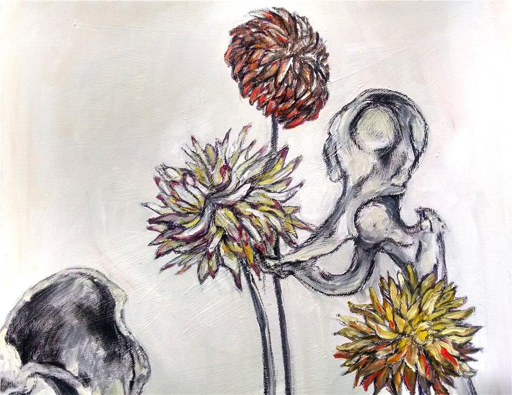 """421 Bones"" original fine art by Heather Smith"