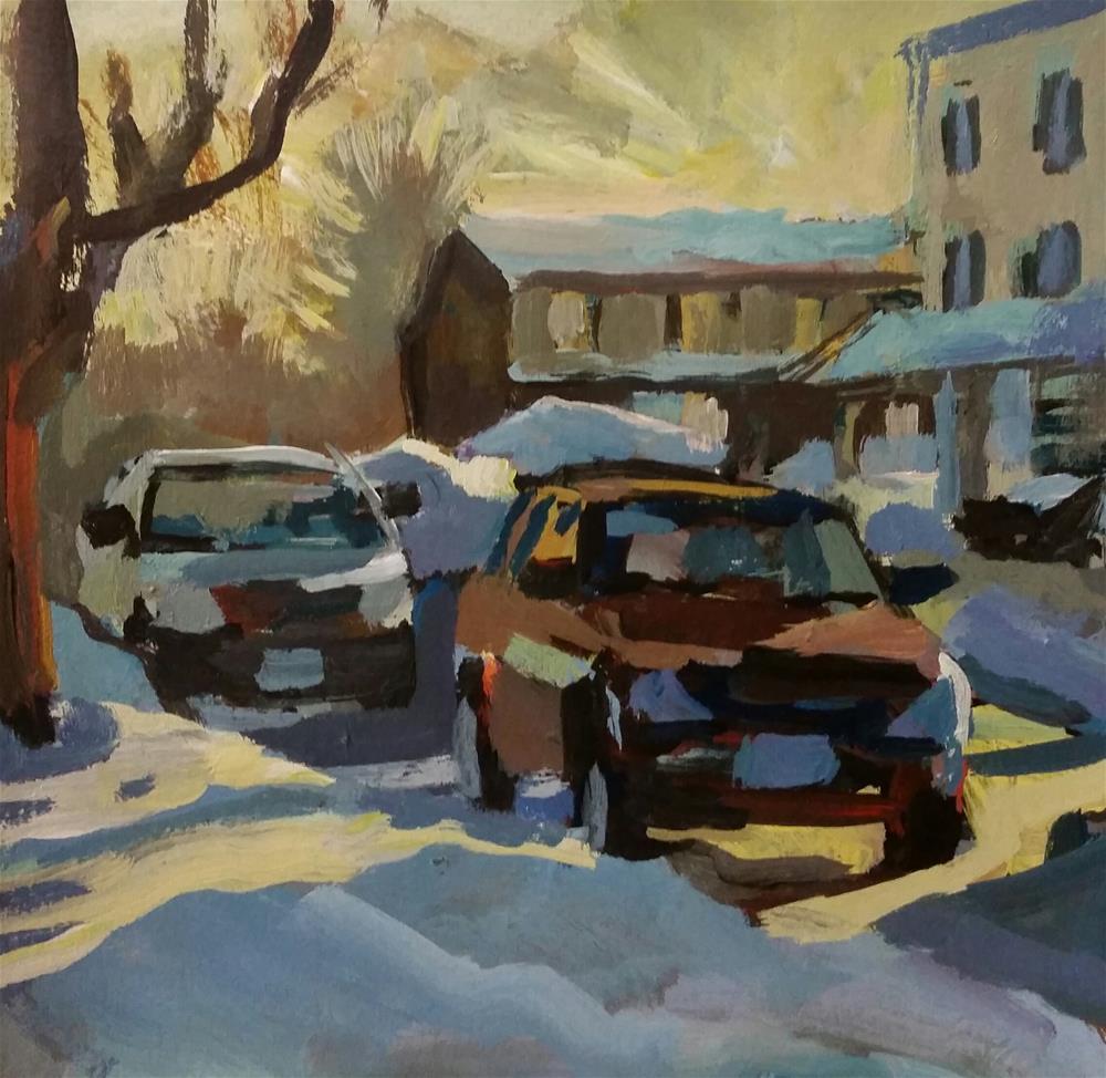 """Connecticut Sunset"" original fine art by Liz Maynes"