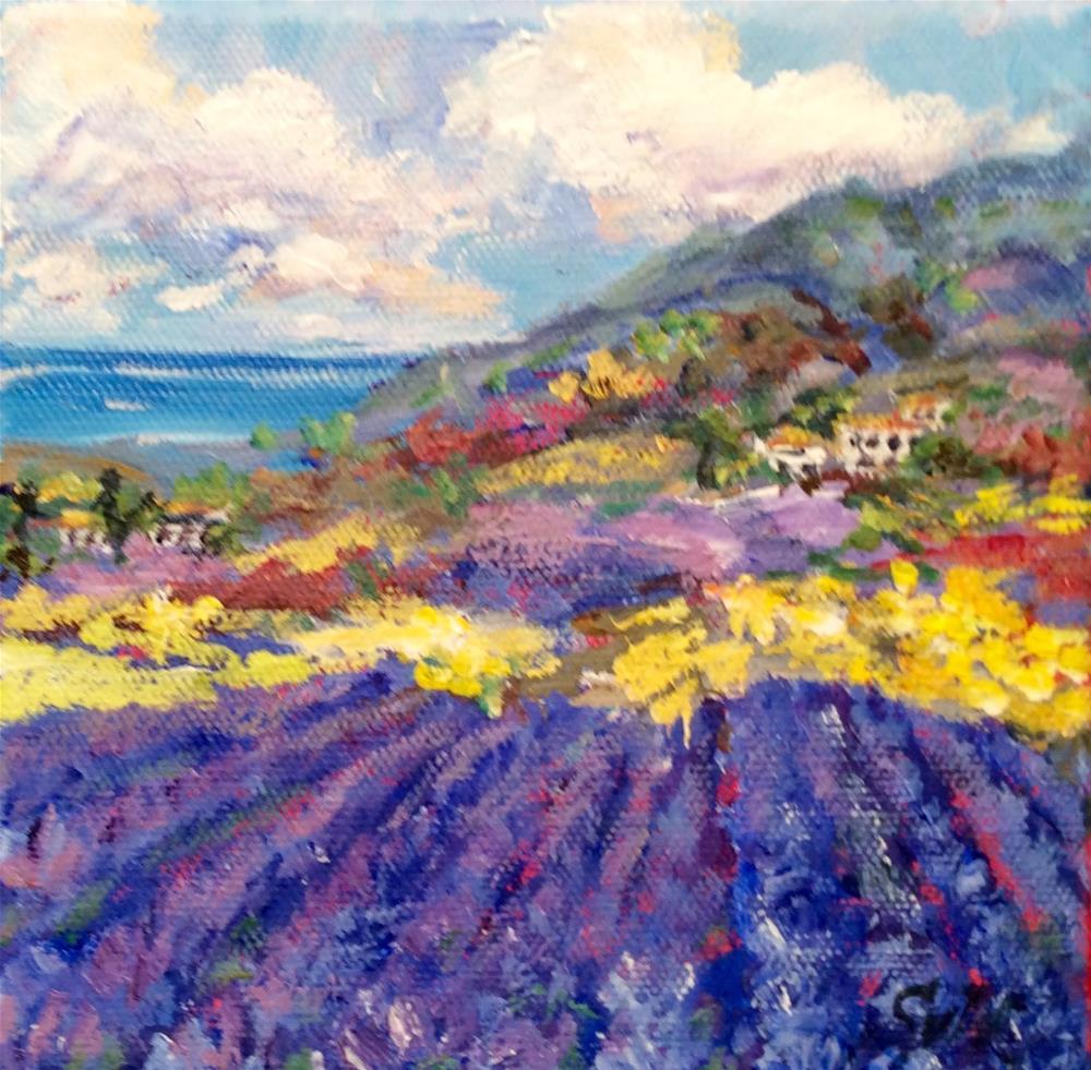 """""""Provence lavender dream"""" original fine art by Sonia von Walter"""