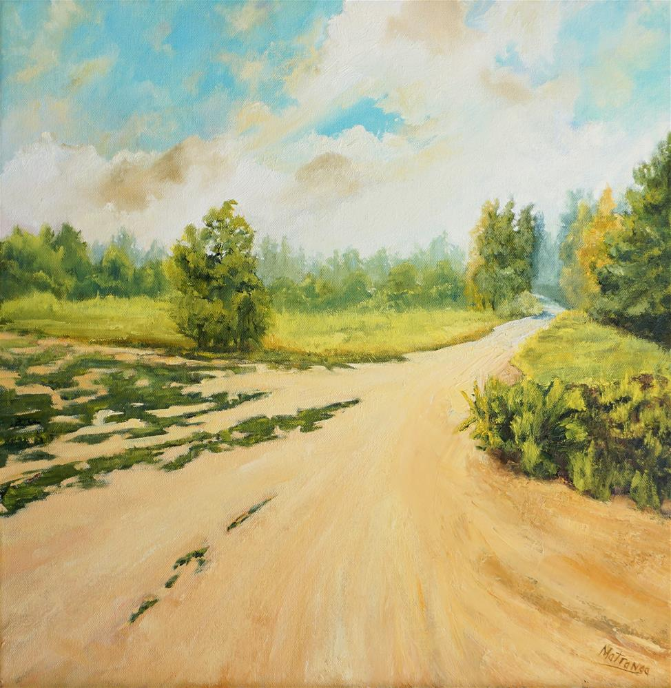 """Country Road - Take Me Home"" original fine art by Patricia Matranga"