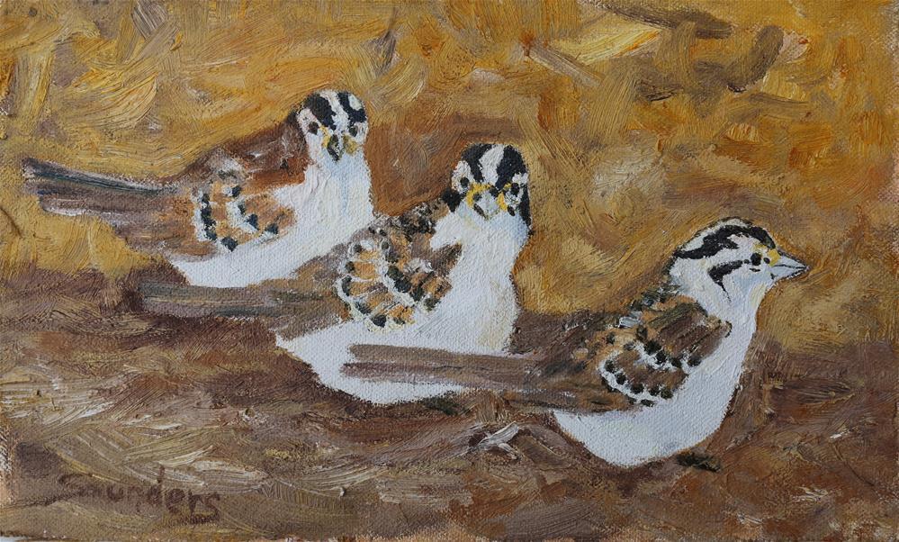 """Three Amigos"" original fine art by Michael Saunders"