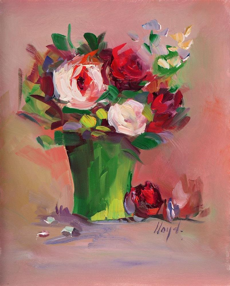 """Red Reflections"" original fine art by Diane Lloyd"