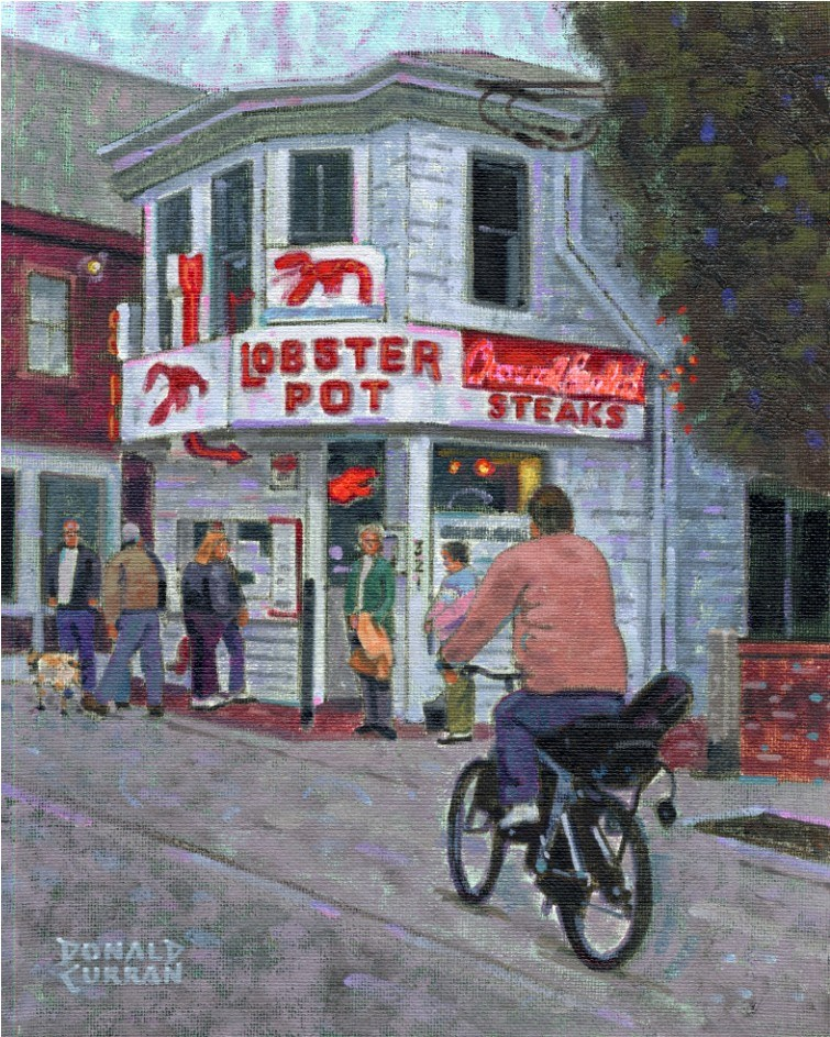 """Provincetown Street Scene"" original fine art by Donald Curran"