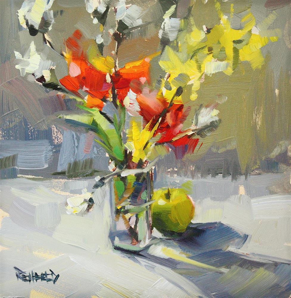 """Star Magnolia Buds"" original fine art by Cathleen Rehfeld"