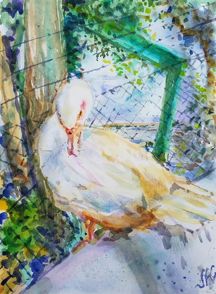 """Goose"" original fine art by Jean Krueger"