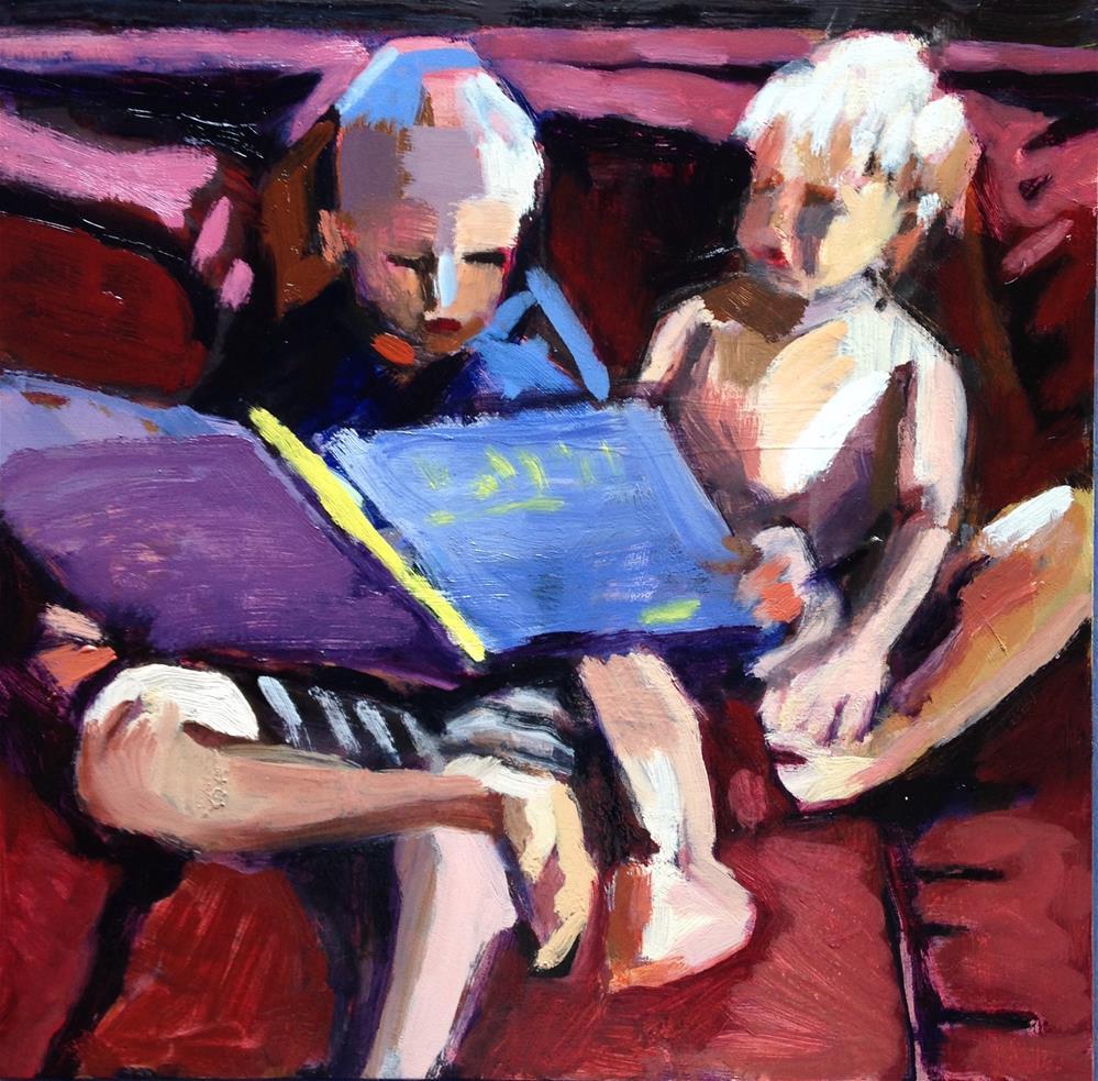 """Reading To Little Brother II"" original fine art by Pamela Hoffmeister"