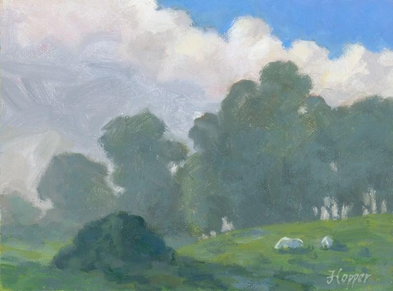 """Hanamu Road in the Rain"" original fine art by Joanne Hopper"