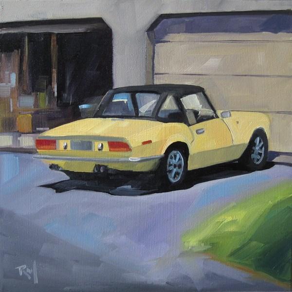 """No 792 Driveway Treasures No1"" original fine art by Robin J Mitchell"