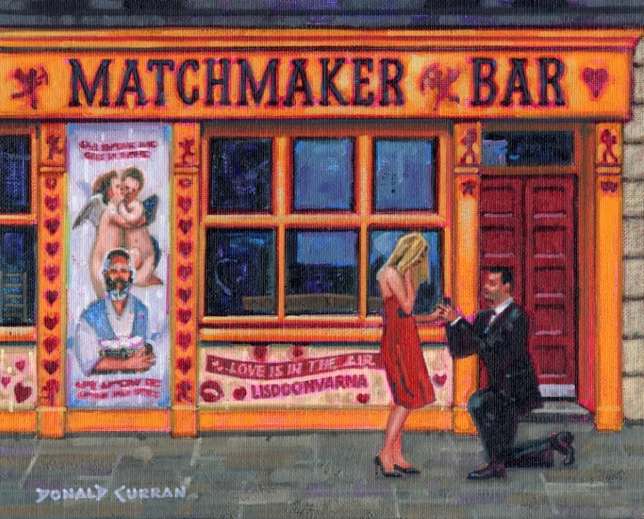 """Irish Romance"" original fine art by Donald Curran"
