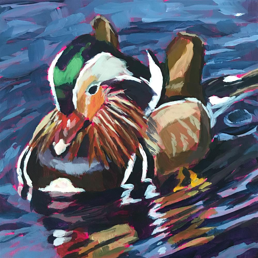 """Duck Reflections"" original fine art by Gina Garding"