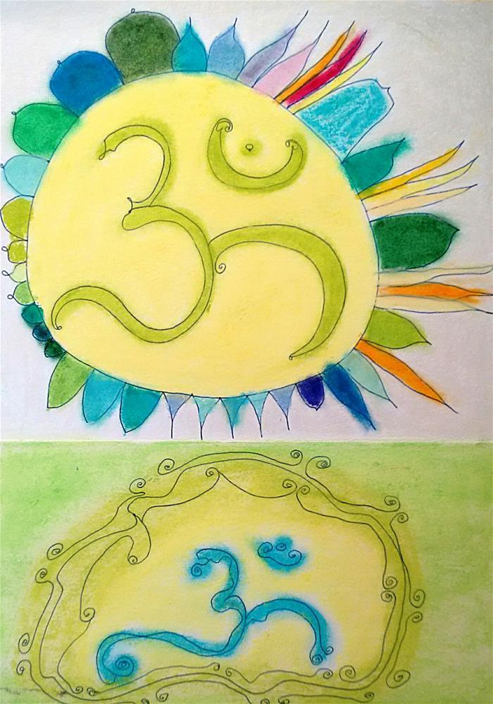 """""""Om"""" original fine art by Adéla Svobodová"""