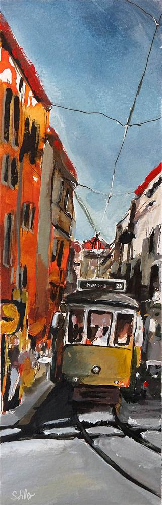 """2404 Streetview Lisbon"" original fine art by Dietmar Stiller"