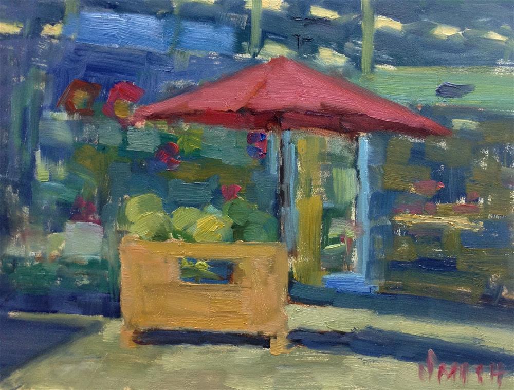 """Watermelon Stand"" original fine art by Barbie Smith"