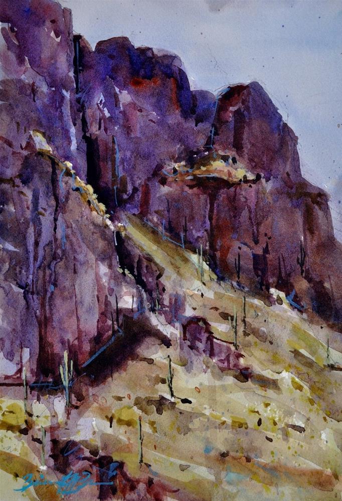 """Picacho Park"" original fine art by Brienne M Brown"