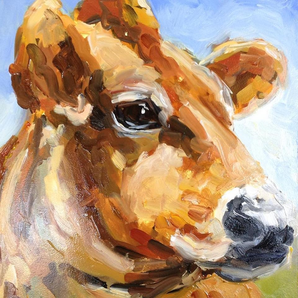 """Cow"" original fine art by Susan Elizabeth Jones"