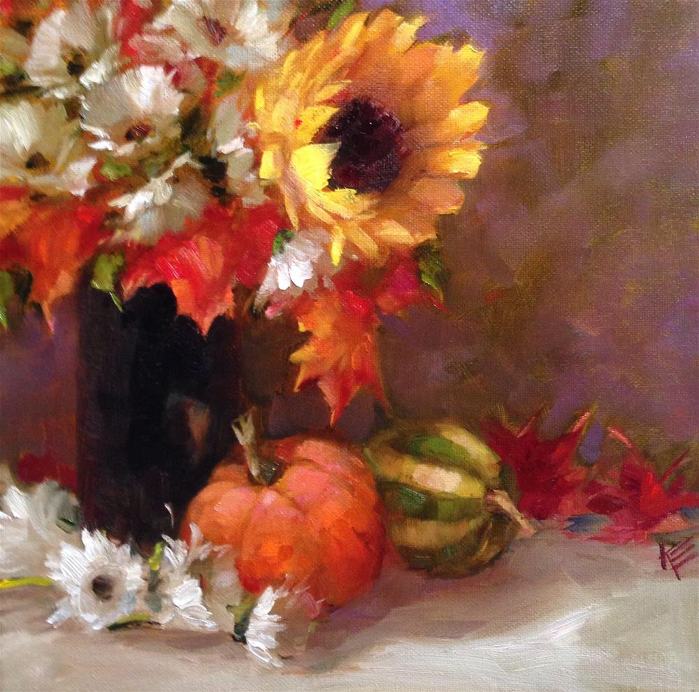 """Fall Bouquet"" original fine art by Krista Eaton"