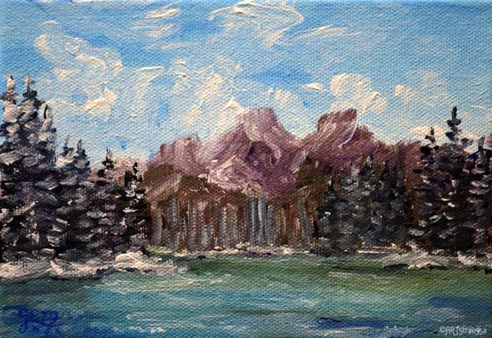 """SALE!!!Norquay Lake"" original fine art by Gloria Ester"