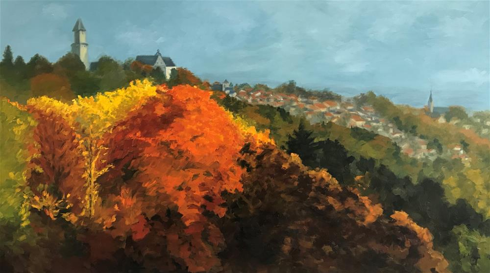"""Kronberg in the Fall II"" original fine art by Karen D'angeac Mihm"