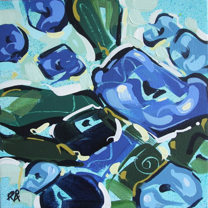"""Flower Exploration 22"" original fine art by Roger Akesson"