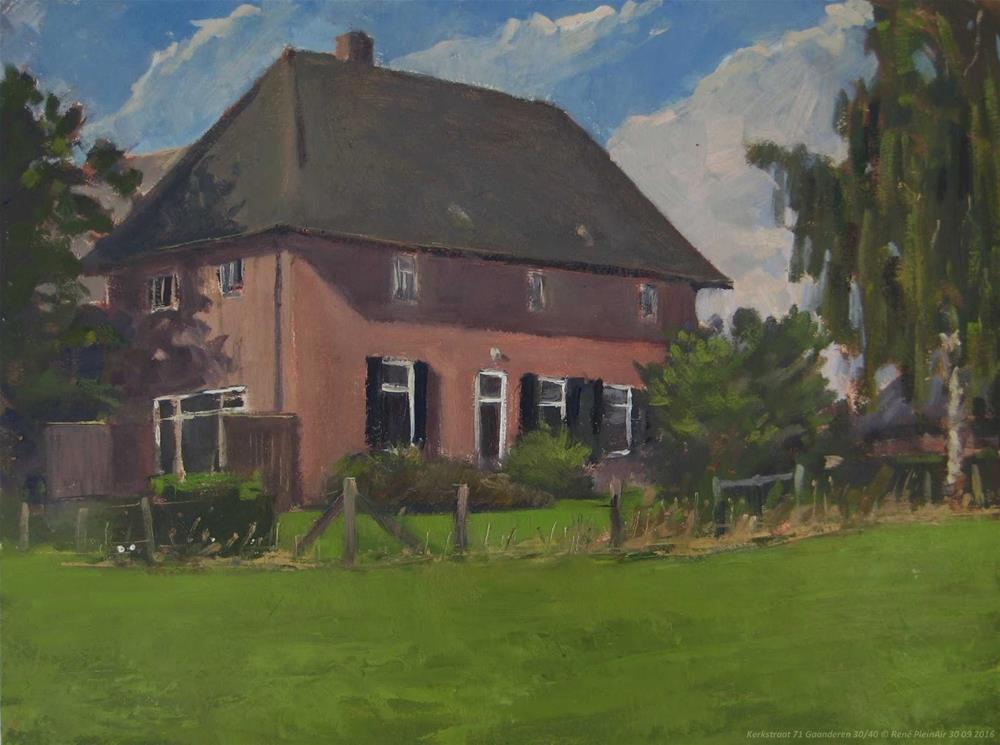 """Kerkstraat 71 Gaanderen, The Netherlands."" original fine art by René PleinAir"