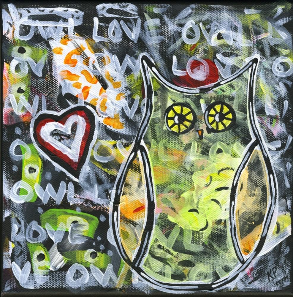 """Owl Love"" original fine art by Kali Parsons"