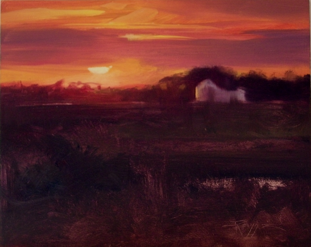 """""""Close of Day  on the Trans Canadian Highway."""" original fine art by Robin Weiss"""