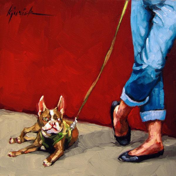 """""""A Good Listener"""" original fine art by Karin Jurick"""