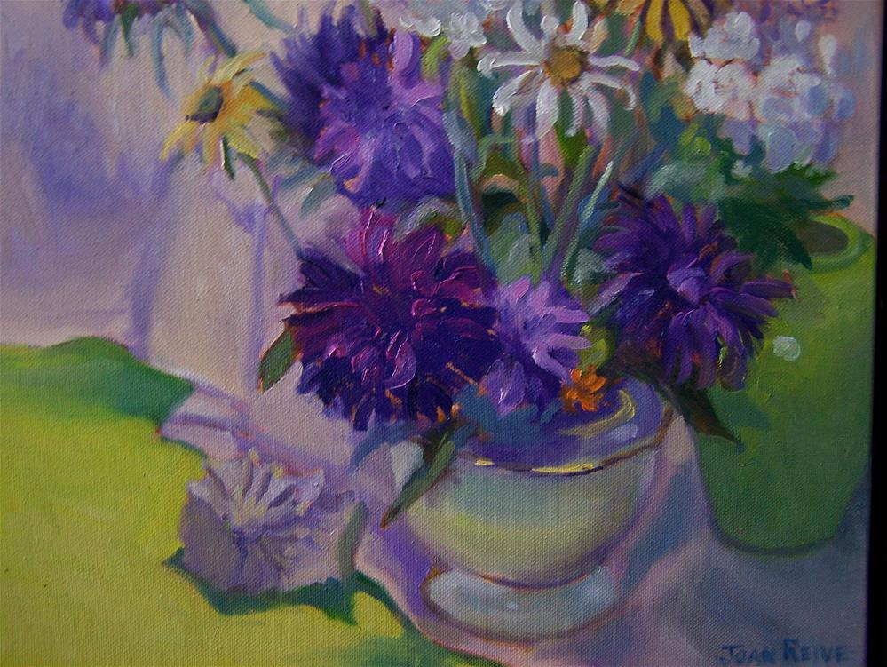 """""""Asters, Stocks and Daisies"""" original fine art by Joan Reive"""