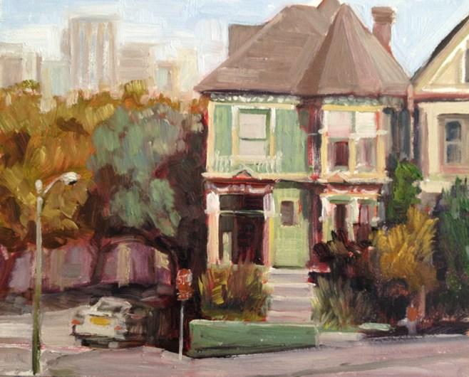 """Last in the Row"" original fine art by Deborah Newman"