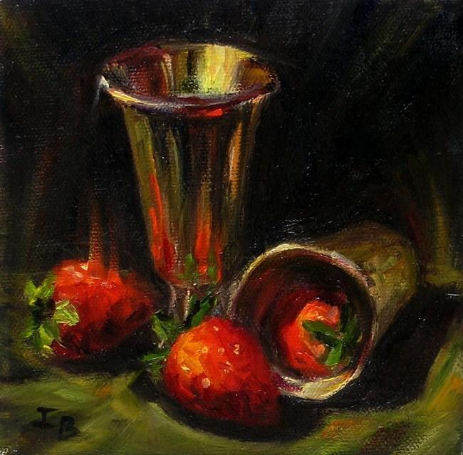 """""""Just Strawberries"""" original fine art by Irina Beskina"""